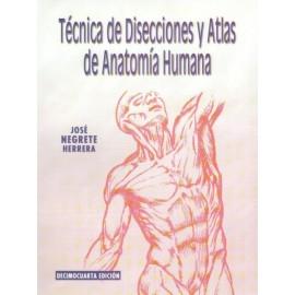 Técnica de disecciones y Atlas de anatomía humana
