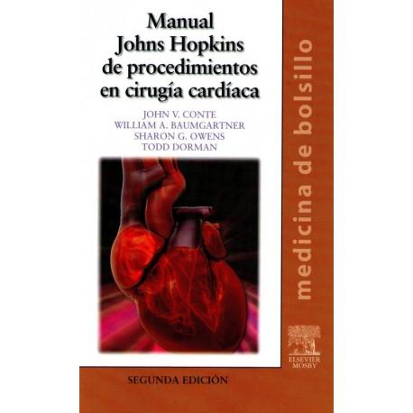 Manual Johns Hopkins de Procedimientos en Cirugía Cardíaca. Medicina de bolsillo - Envío Gratuito