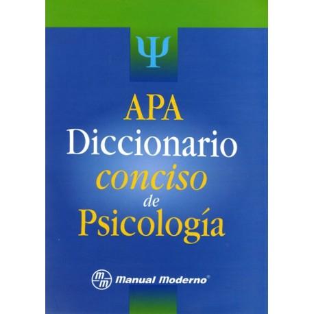 APA. Diccionario Conciso de psicología - Envío Gratuito