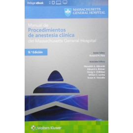 Manual de procedimientos de anestesia clínica del Massachusetts General Hospital - Envío Gratuito
