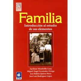 Familia. Introducción al estudio de sus elementos - Envío Gratuito