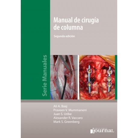 Manual de cirugía de columna - Envío Gratuito
