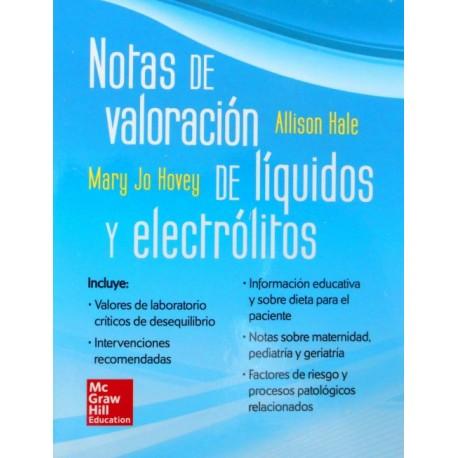 Notas de valoración de líquidos y electrólitos - Envío Gratuito